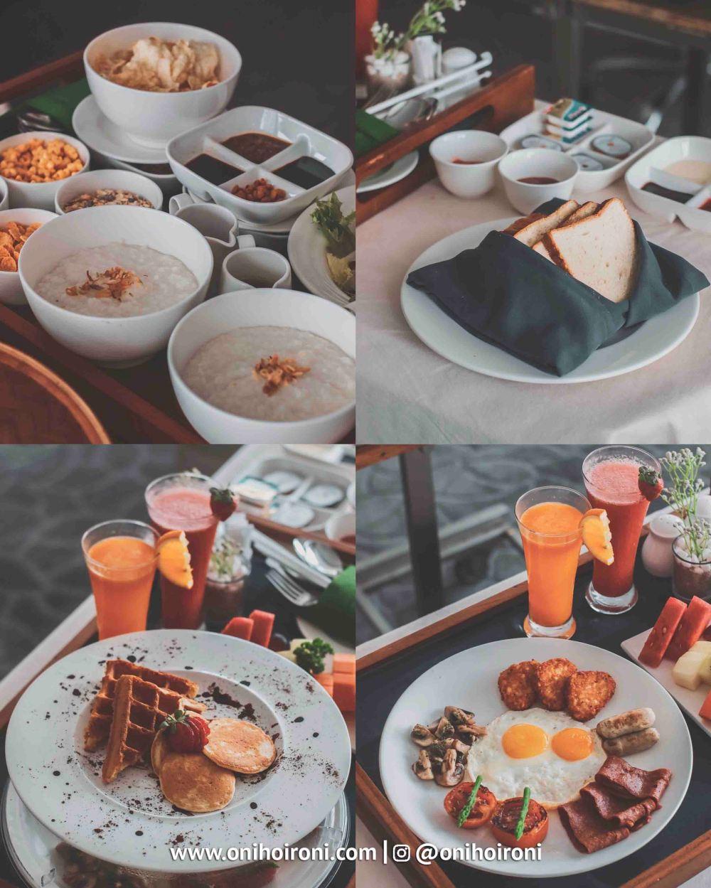 2 Room Breakfast Crowne Plaza Bandung Oni Hoironi