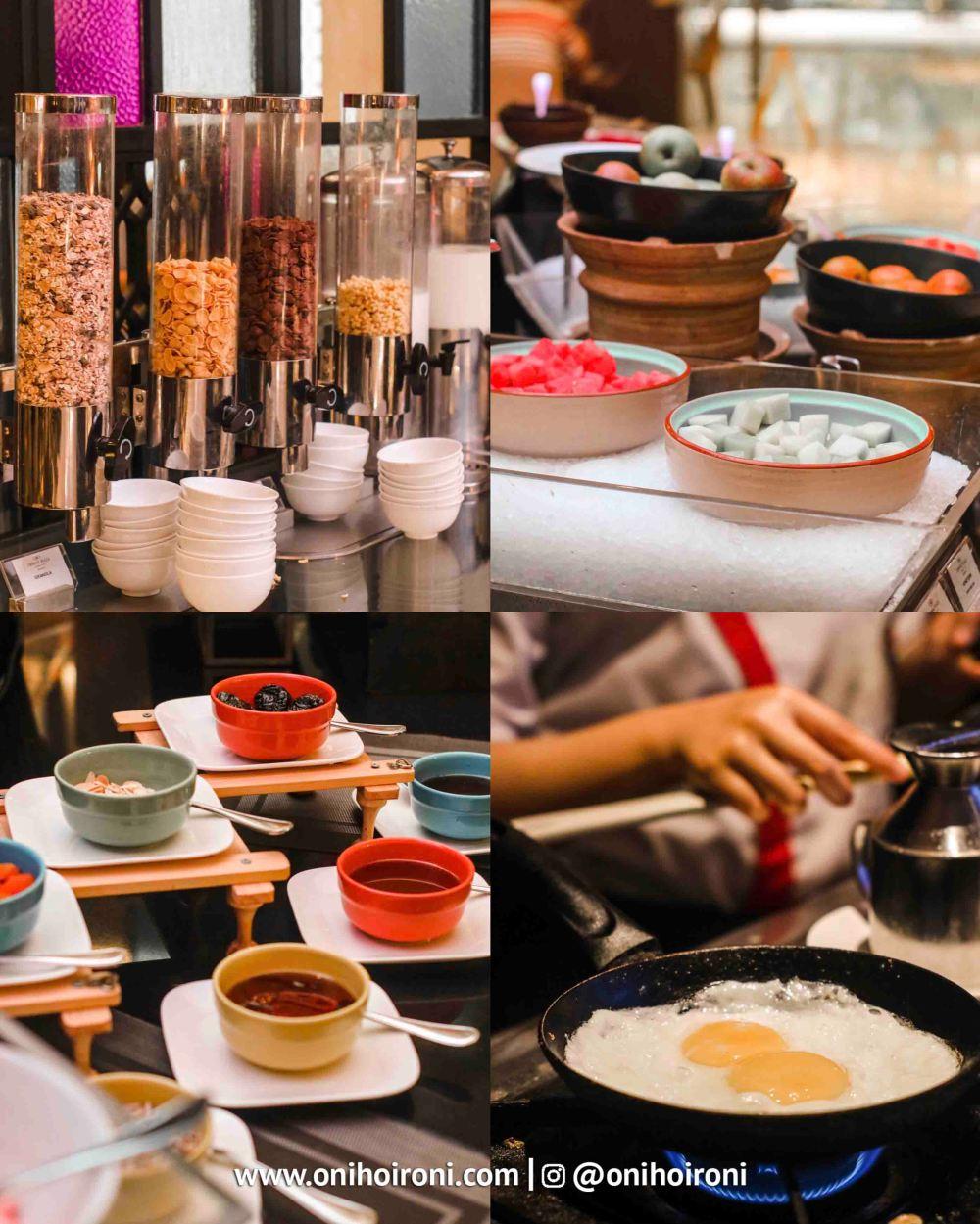 Breakfast Mosaic all day dining Crowne Plaza Bandung Oni Hoironi