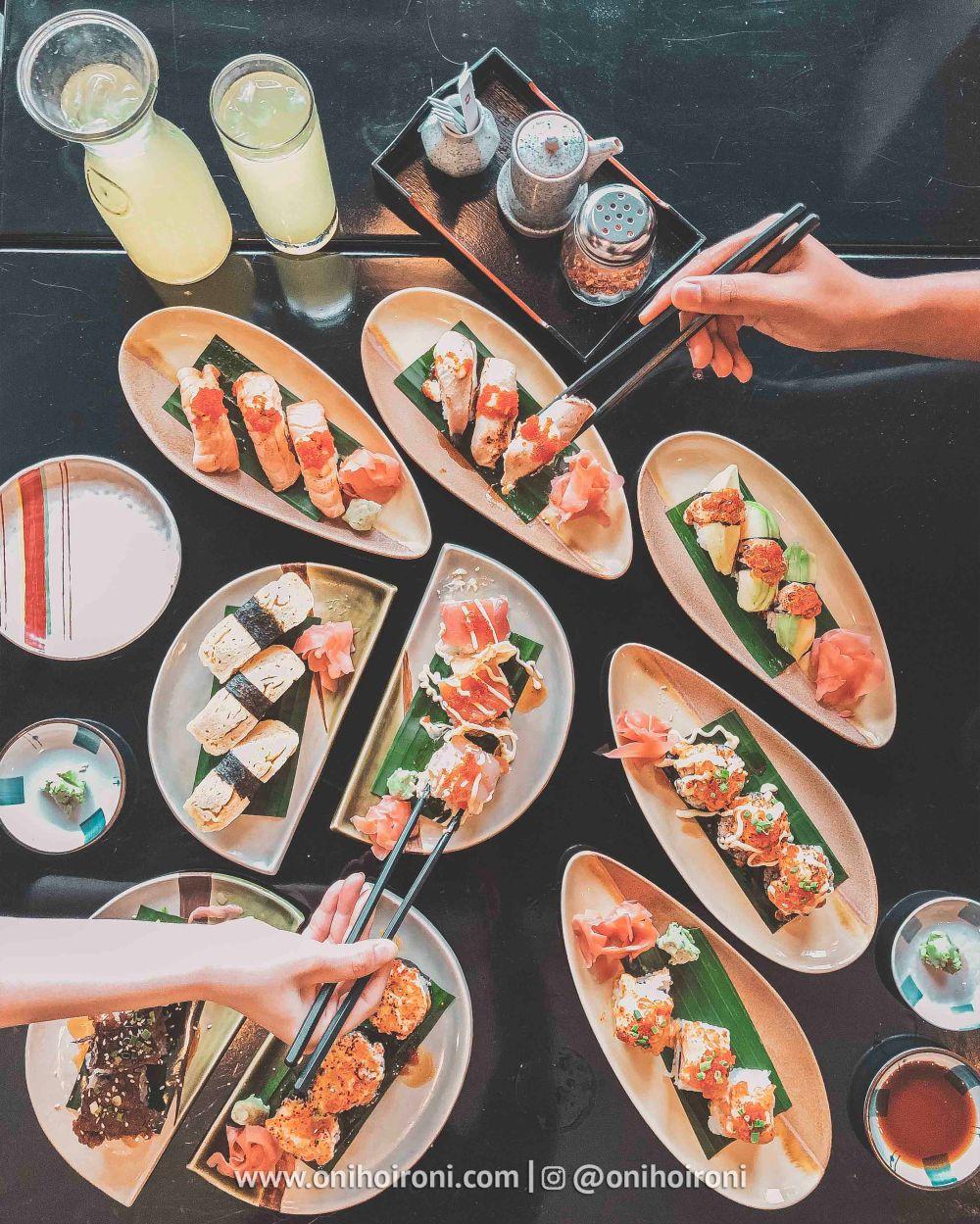 1Review food makanan Nishimura restaurant Shangrila Surabaya Hotel Oni hoironi