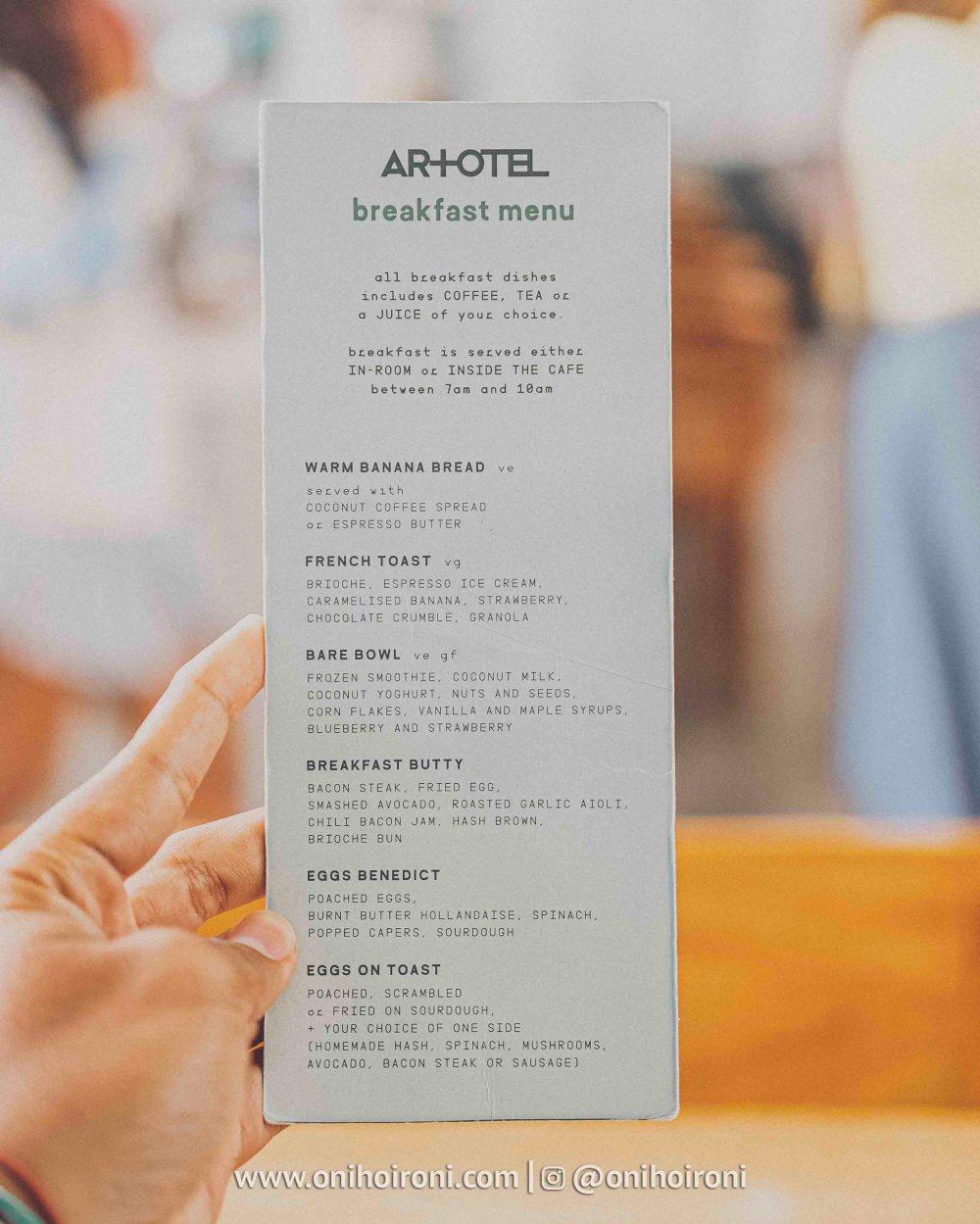 1 breakfast review artotel haniman ubud oni hoironi